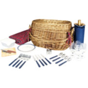 Picnic Time® Highlander Picnic Basket – Service for 4