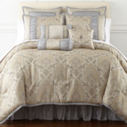 Home Expressions™ Kingston 7-pc. Damask Comforter Set & Accessories