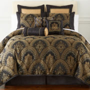 Home Expressions™ Yorkshire 7-pc. Damask Comforter Set & Accessories