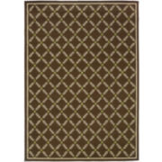 Leaf Lattice Indoor/Outdoor Rectangular Rug