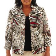 Alfred Dunner® Belize Animal Patchwork Jacket - Plus
