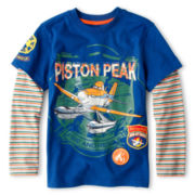 Disney Collection Planes Long-Sleeve Layered Tee - Boys 2-10