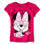 Disney Pink Minnie Bow Short-Sleeve Graphic Tee - Girls 2-12