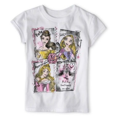 jcpenney.com | Disney Collection Sketch Princesses Short-Sleeve Graphic Tee - Girls 2-10