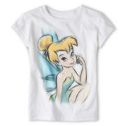 Disney Collection Tinker Bell Sketch Short-Sleeve Graphic Tee - Girls 2-12
