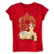 Disney Collection Belle Short-Sleeve Graphic Tee - Girls 2-10