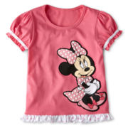 Disney Collection Pink Minnie Fashion Top - Girls 2-10