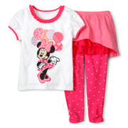 Disney Collection Pink Minnie 2-pc. Dress Set - Girls 2-10