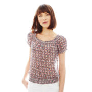 Joe Fresh™ Short-Sleeve Smocked Top