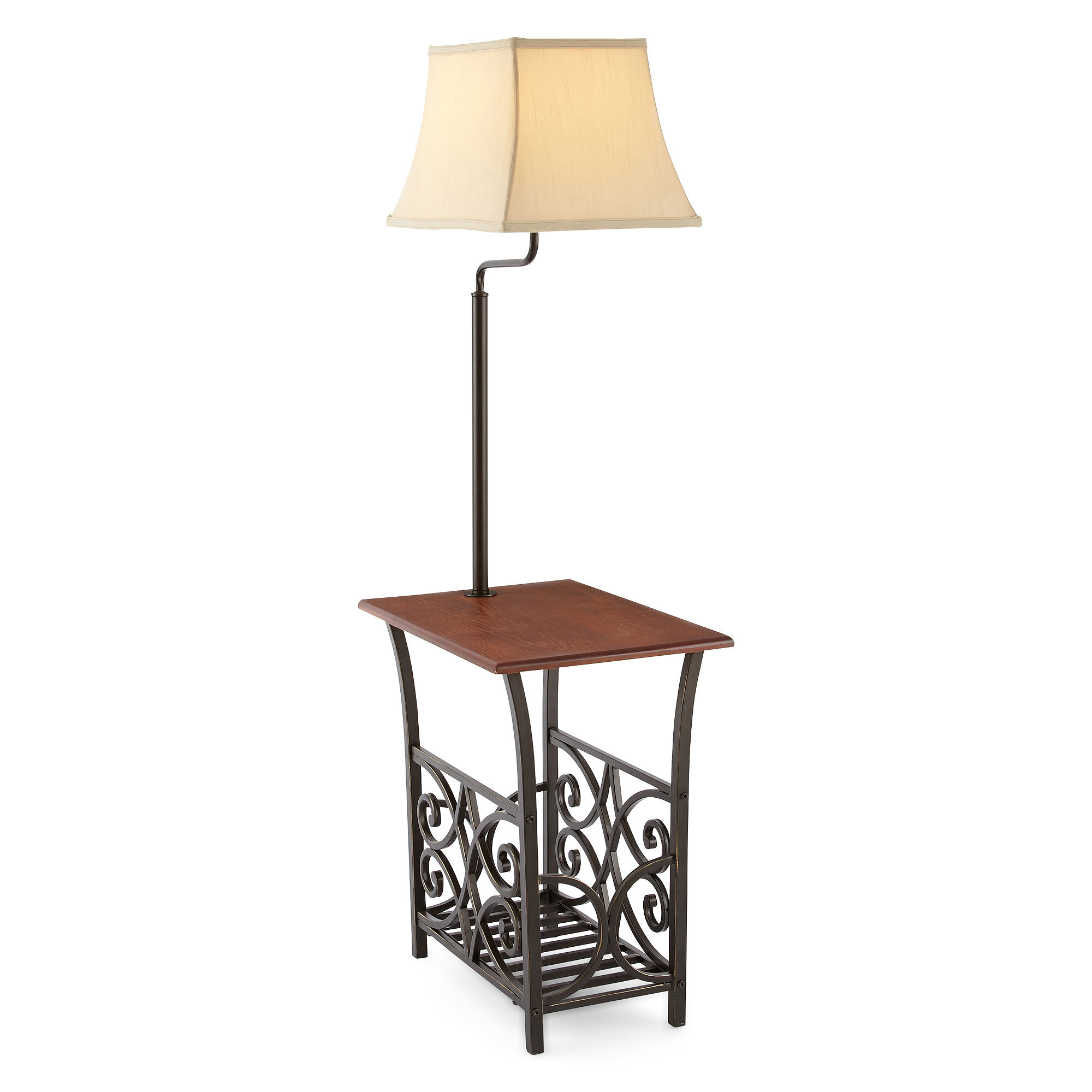 side table with lamp jcpenney home magazine rack side table with lamp. Black Bedroom Furniture Sets. Home Design Ideas