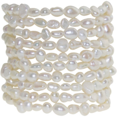 jcpenney.com | Cultured Freshwater Pearl Set of 10 Stretch Bracelets