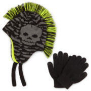 Berkshire Mohawk Hat & Gloves Set - Boys
