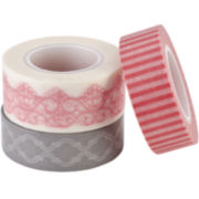 Lost & Found 3 Ruby Decorative Tape—3-pk.