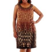 Studio 1® Sleeveless Beaded Halter Dress - Plus