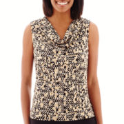 Black Label by Evan-Picone Sleeveless Cowlneck Top
