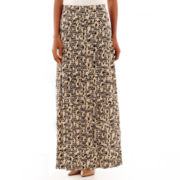 Black Label by Evan-Picone Multi-Print Knit Maxi Skirt