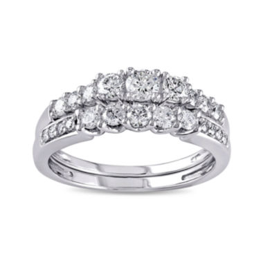 jcpenney.com | 4/5 CT. T.W. Diamond 14K White Gold Bridal Ring Set