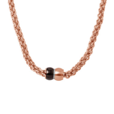 jcpenney.com | Mens Stainless Steel and Rose-Tone IP Braided Chain