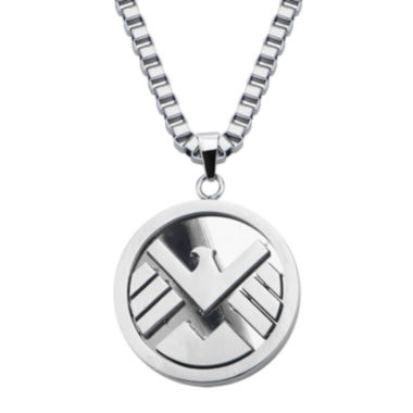 jcpenney.com | Marvel Agents of S.H.I.E.L.D. Logo Mens Stainless Steel Pendant Necklace