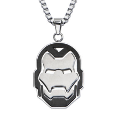 jcpenney.com | Marvel Iron Man Mens Stainless Steel Cutout Pendant Necklace
