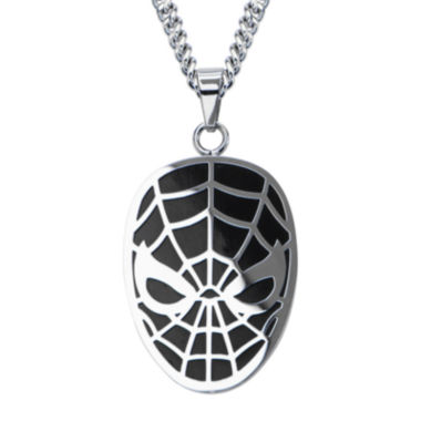 jcpenney.com | Marvel Spiderman Mens Stainless Steel Pendant Necklace