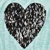 Aqua Verde Heart