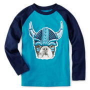 Okie Dokie® Long-Sleeve Raglan Tee - Toddler Boys 2t-5t