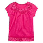 Arizona Lace-Yoke Tee - Toddler Girls 2t-5t