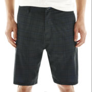Burnside® Plaid Hybrid Stretch Shorts