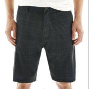 Burnside® Plaid Hybrid Stretch Shorts