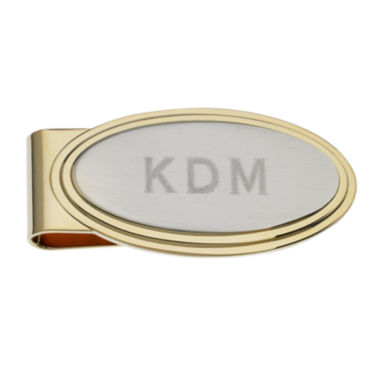jcpenney.com | Personalized Stepped Two-Tone Money Clip