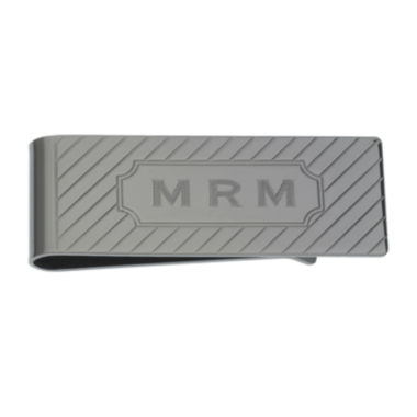 jcpenney.com | Personalized Diagonal Line Pattern Money Clip