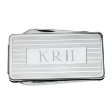 jcpenney.com | Personalized Stainless Steel Money Clip with Knife and File