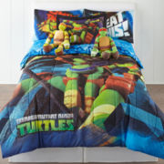 nickelodeon Teenage Mutant Ninja Turtles Twin/Full Reversible Comforter + BONUS Sham