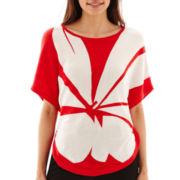 Worthington® 3/4 Dolman-Sleeve Circle Sweater - Petite