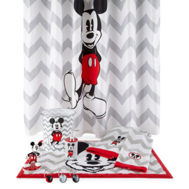disney chevron mickey mouse bath collection - jcpenney