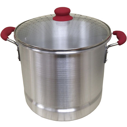 IMUSA Global Kitchen 12-qt. Stock Pot with Glass Lid