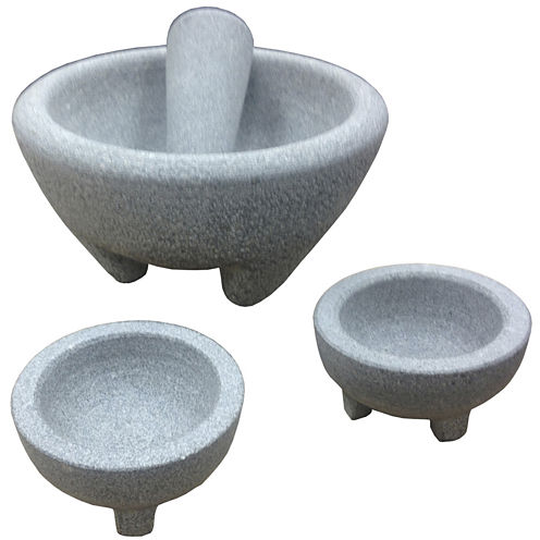 IMUSA Global Kitchen 4-pc. Granite Molcajete Guacamole Set