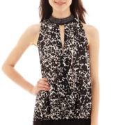 nicole by Nicole Miller® Sleeveless Embellished Crossover Top