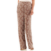 Alfred Dunner® Indian Summer Diamond Print Textured Soft Pants