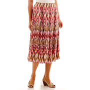 Alfred Dunner® Indian Summer Ikat Print Biadere Skirt