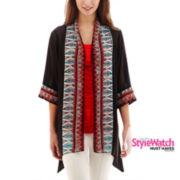 Bisou Bisou® 3/4-Sleeve Print Kimono