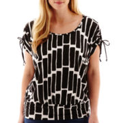 Alyx® Tie-Sleeve Banded Bottom Knit Top - Plus