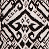 Black/ivory Ikat
