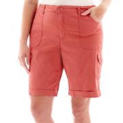 Gloria Vanderbilt® Luisa Cargo Bermuda Shorts - Plus