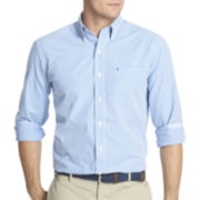 IZOD® Long-Sleeve Small Gingham Shirt