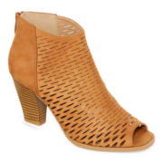 CL By Laundry Real Nice Peep-Toe Ankle Booties