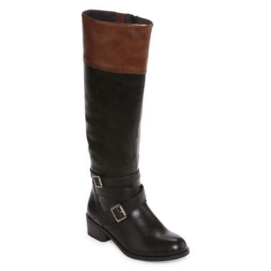 jcpenney.com | Arizona Dakota Two-Tone Riding Boots - Wide Calf
