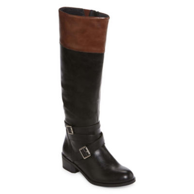 Arizona Dakota Two-Tone Riding Boots - Wide Calf - JCPenney