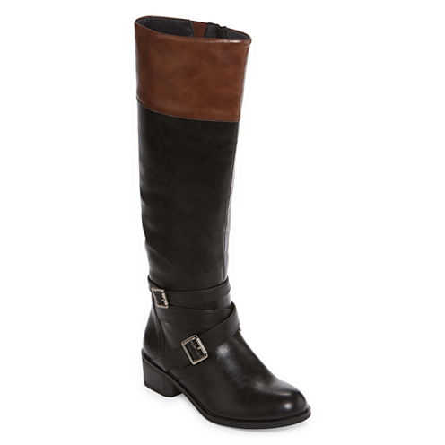 Arizona Dakota Two-Tone Riding Boots - Wide Calf